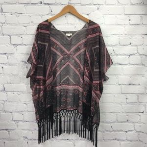 Garage Ladies Boho Tassel Cardigan